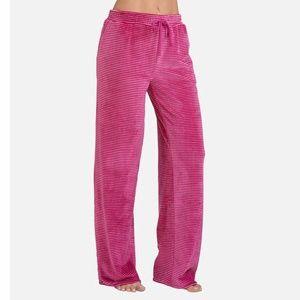 Ultra Cozy Plush Lounge Pant Magenta Stripe